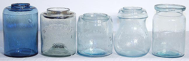 rare wax sealer jars photo