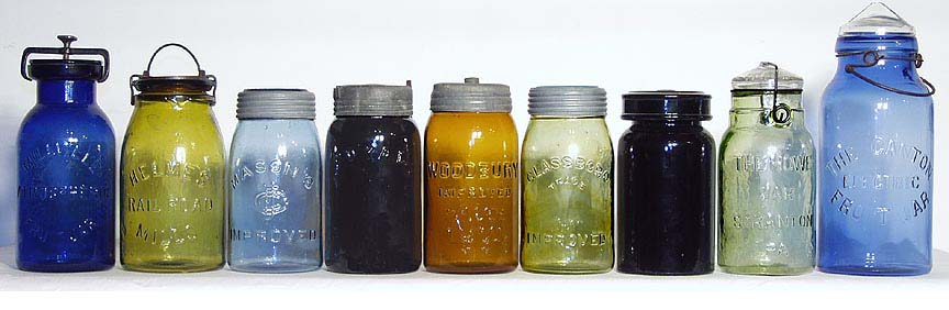 colored Lightning pint fruit jars